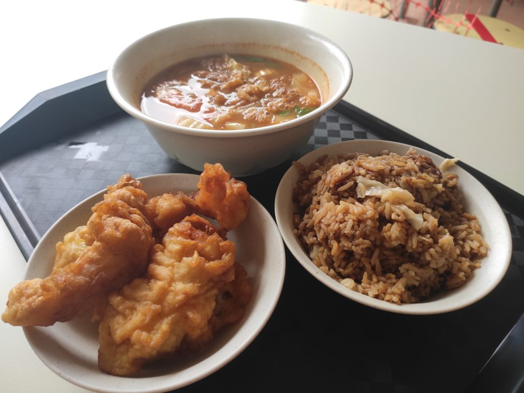 You Yi Fish Soup: Fried Fish with Tom Yum Soup and Vegetable Rice