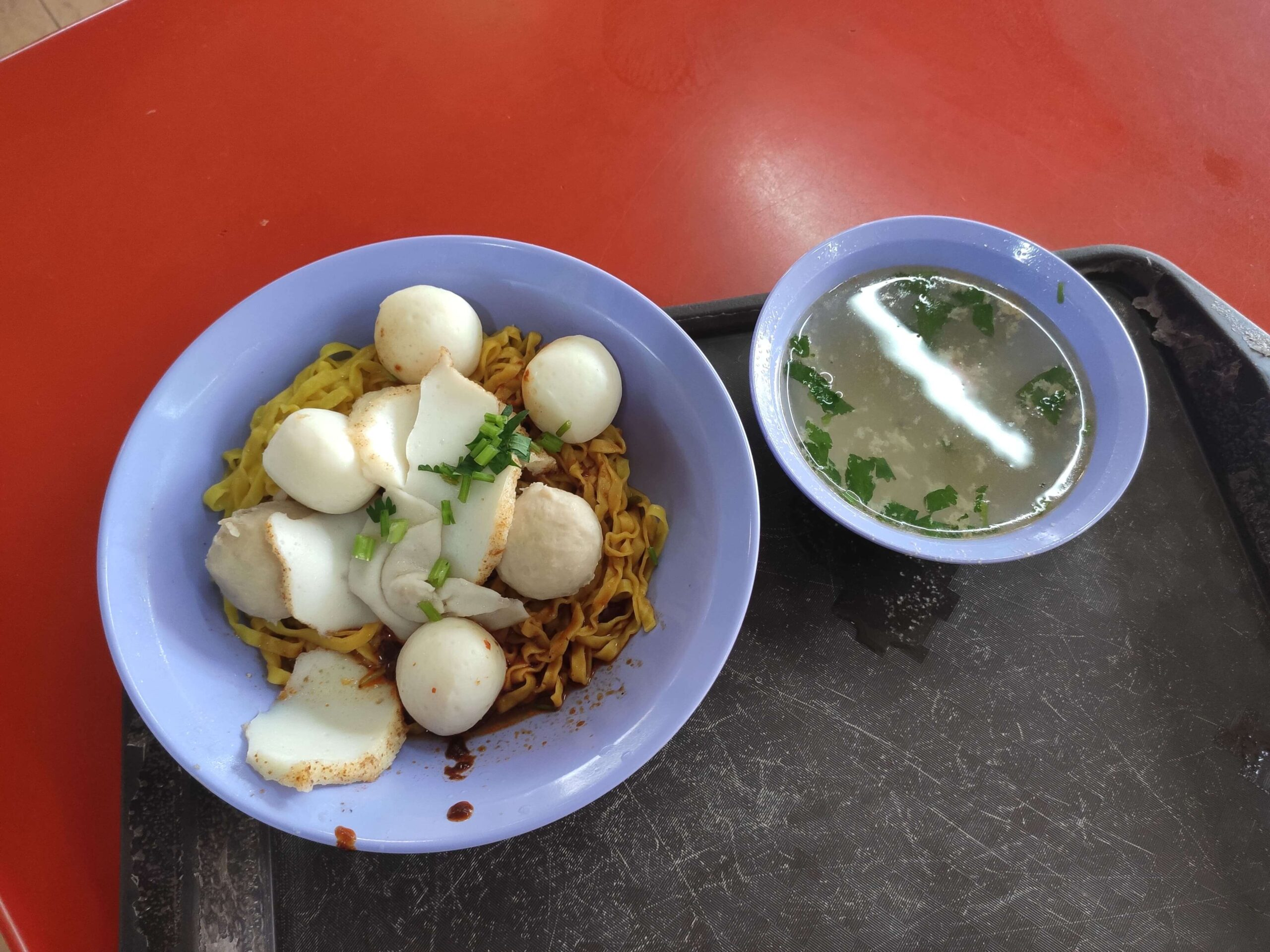 Blue Dragonfly Minced Meat Noodle: Mee Pok with Soup