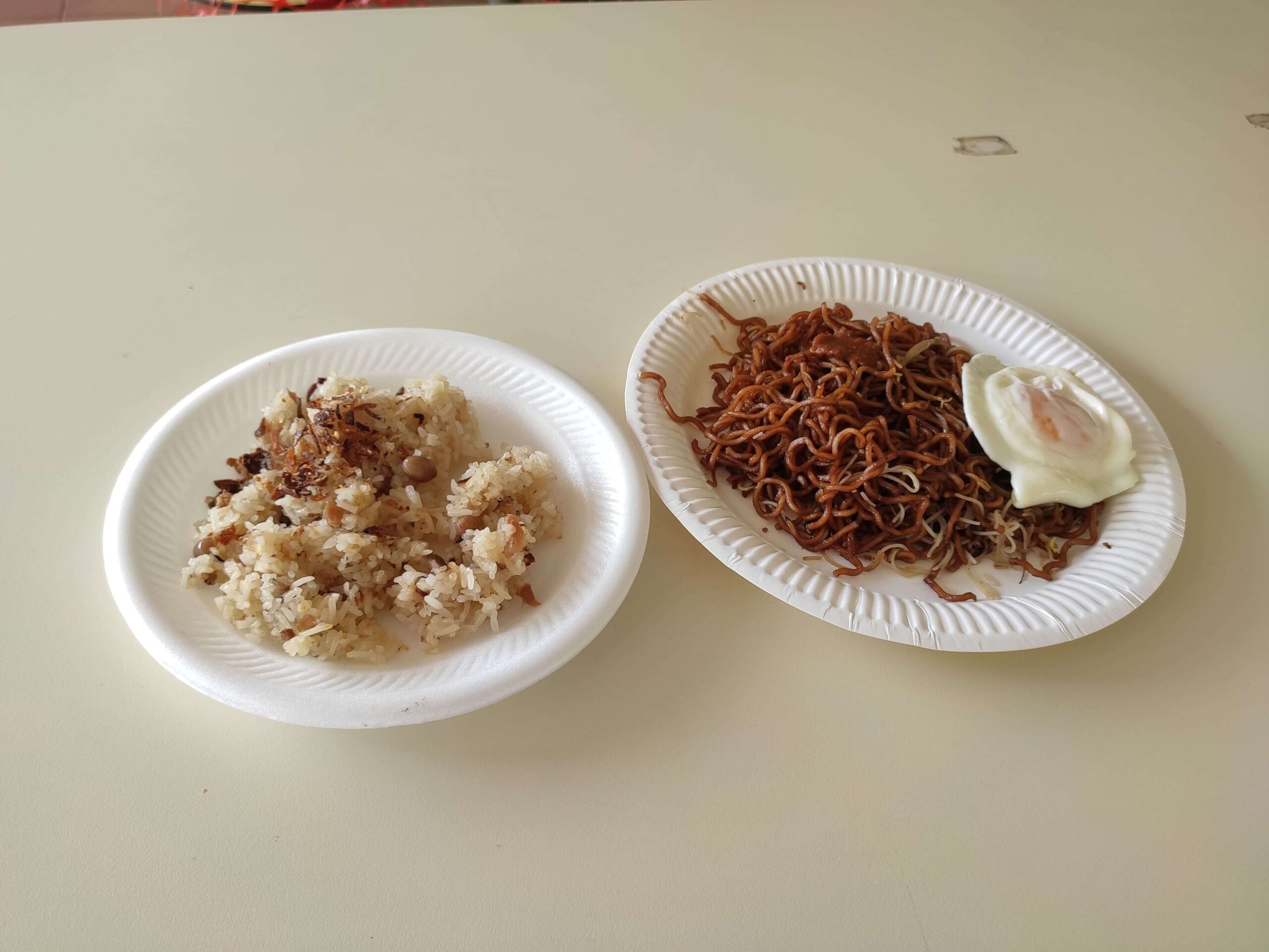 Economic Food - Havelock Road Food Centre: Glutinous Rice & Fried Noodles