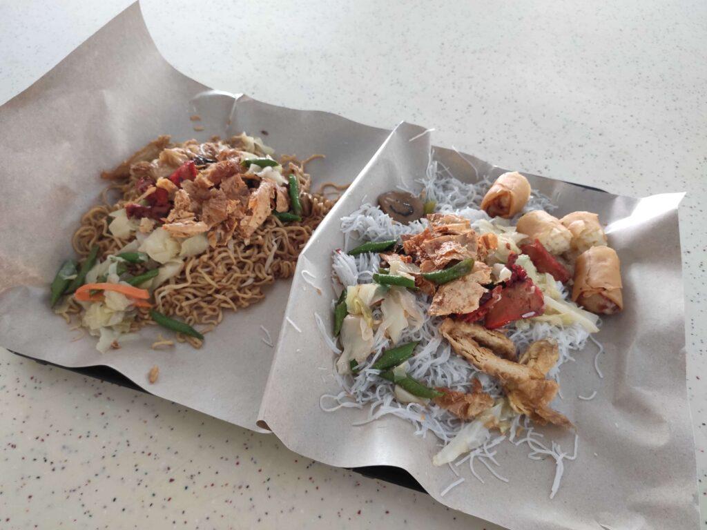 Din Shan Vegetarian: Fried Noodles & Fried Mee Hoon