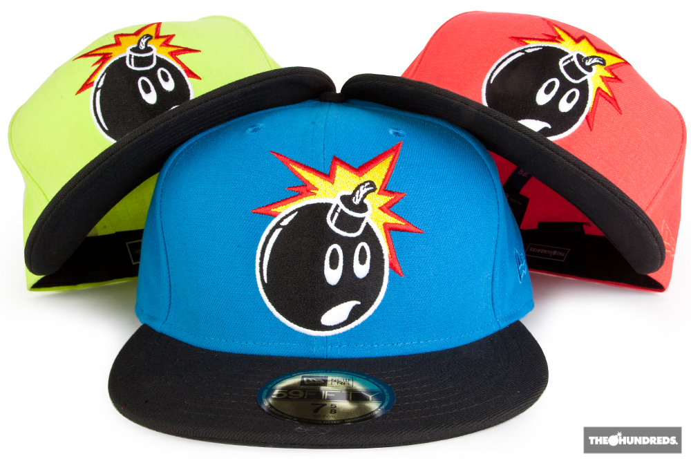 62b63b077ad2d The Hundreds  quot Fluorescent Adam quot  New Era 59 50 Fitted Baseball Cap  - The Hundreds