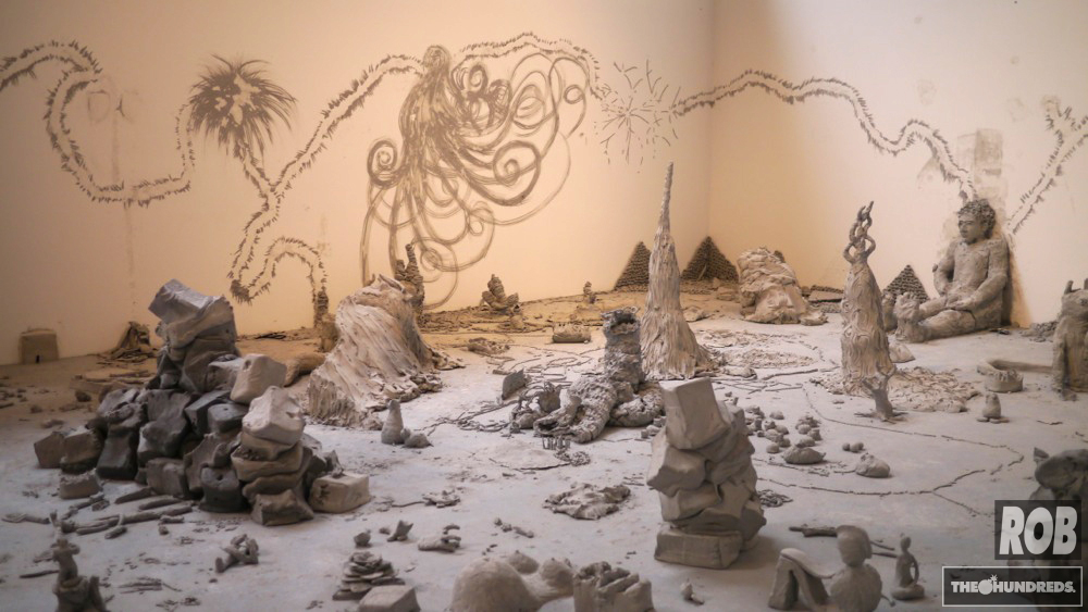 urs fischer clay
