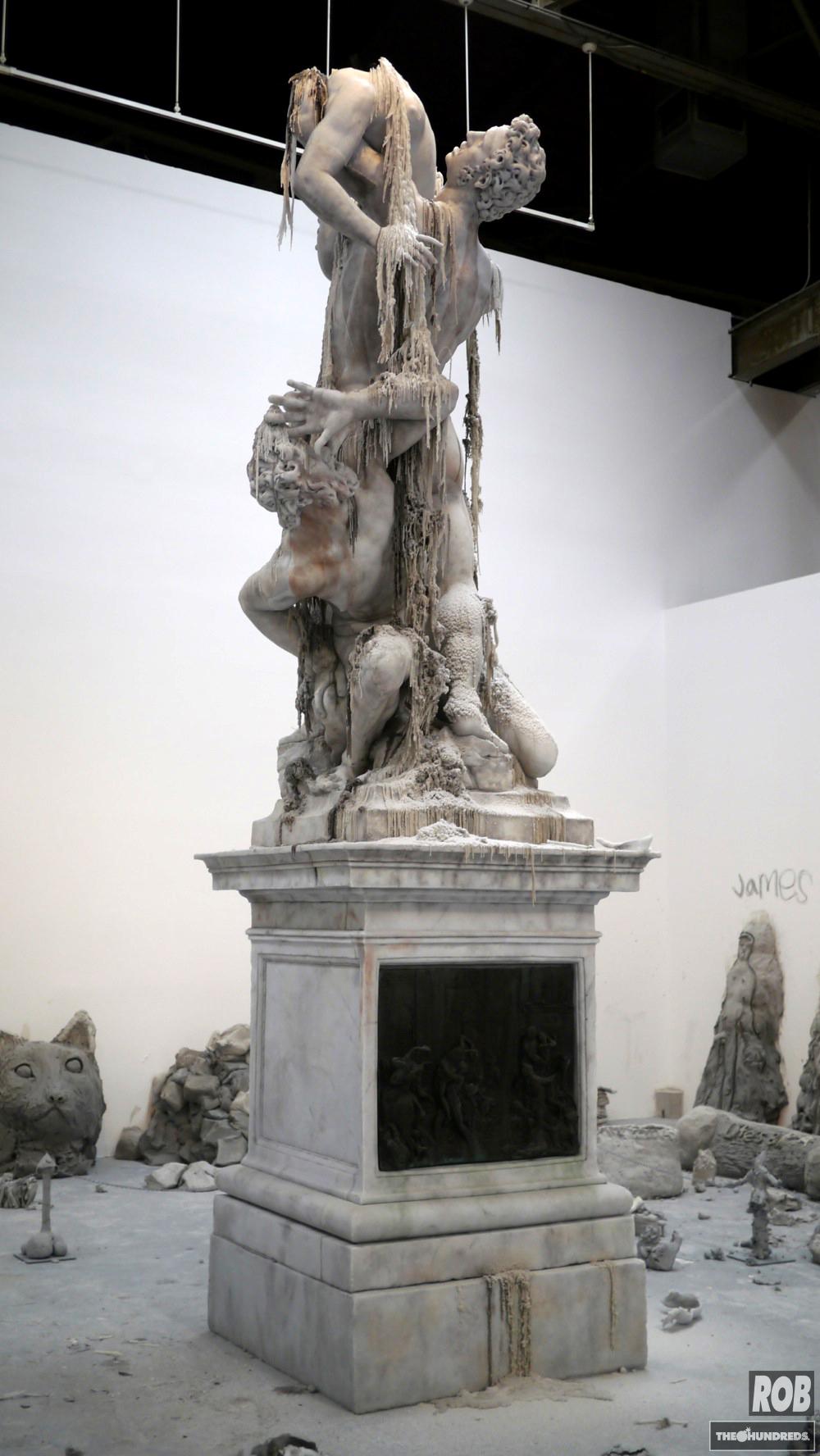urs fischer wax statue moca