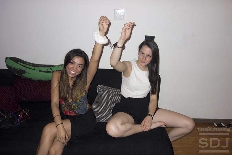 girls in fuzzy handcuffs