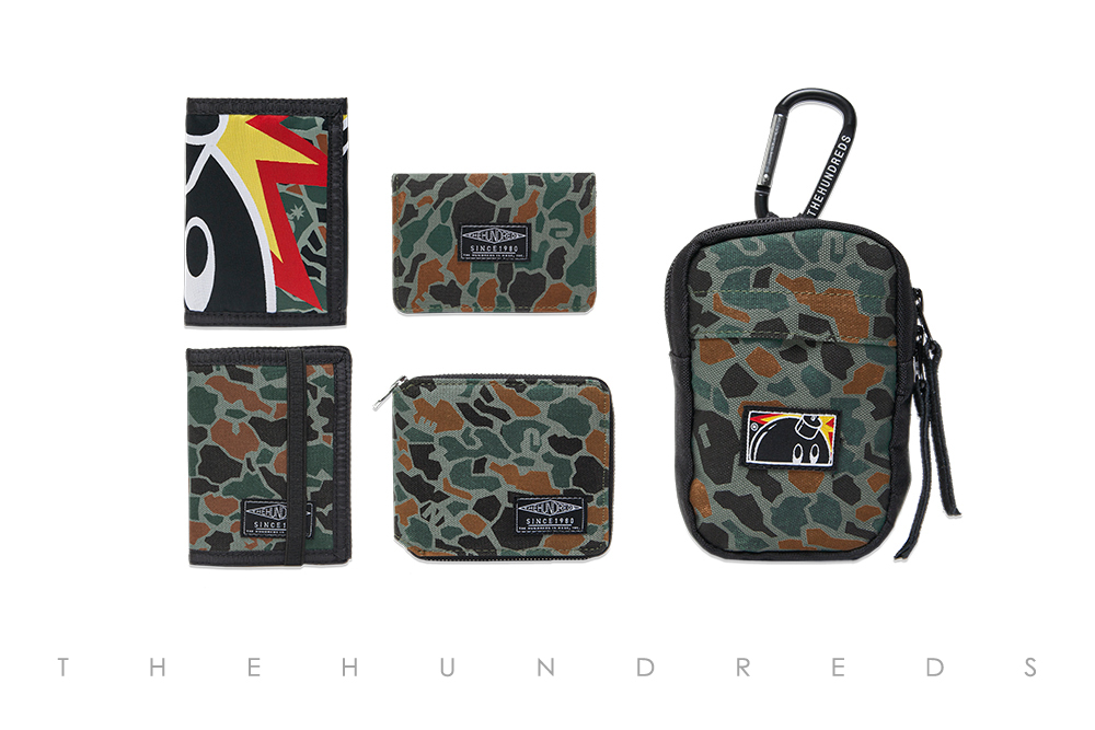 The Hundreds Fall 2013 Duck Camo Collection - Adam Tri-Fold and Murky Bi-Fold and Sylvester Bi-Fold and Montana Zipper Bi-Fold and Shutter Bag