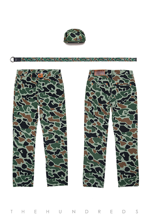 The Hundreds Fall 2013 Duck Camo Collection - Cloak Five Panel and Rescue Belt and Kruger Pant Slim Fit