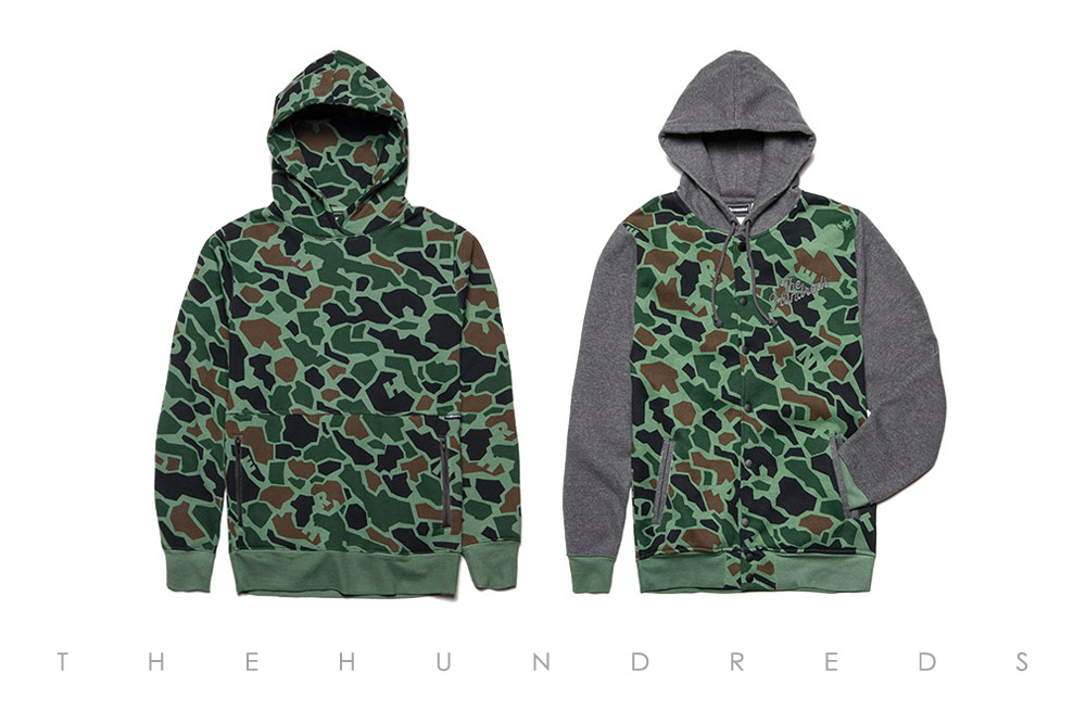 The Hundreds Fall 2013 Duck Camo Collection - Pound Pullover and Raphael Snap Jacket