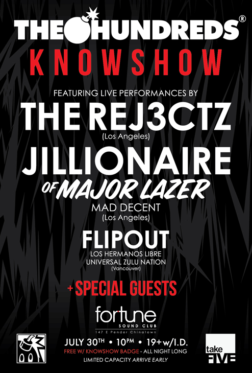 The Hundreds KnowShow Flyer