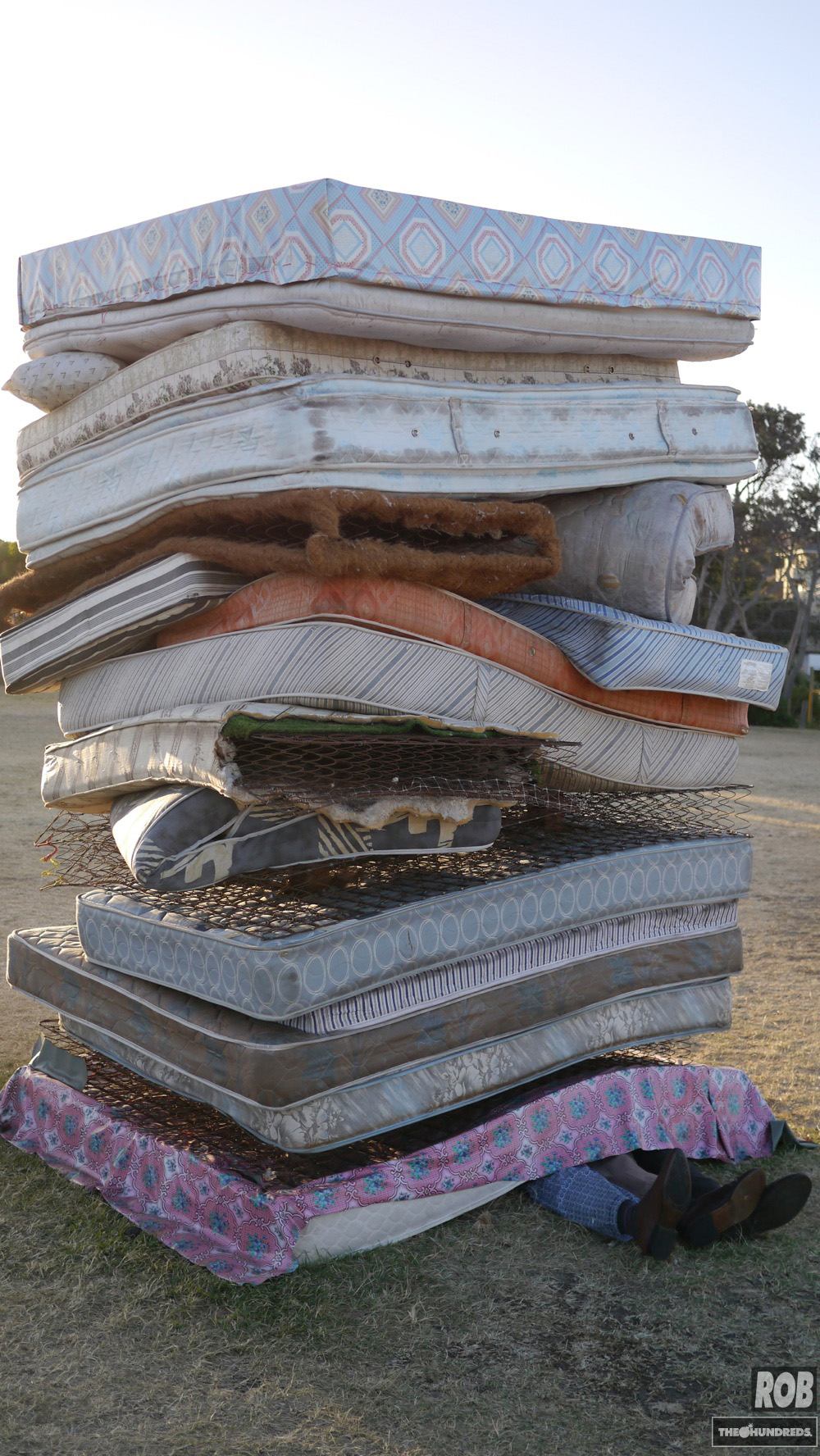 pile of matteresses