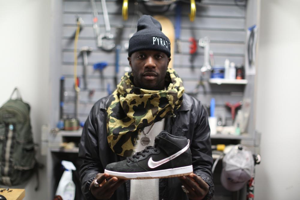 quality design 5b1f4 cda79 Nigel Sylvester x Nike SB Dunk High S.O.M.P. - The Hundreds