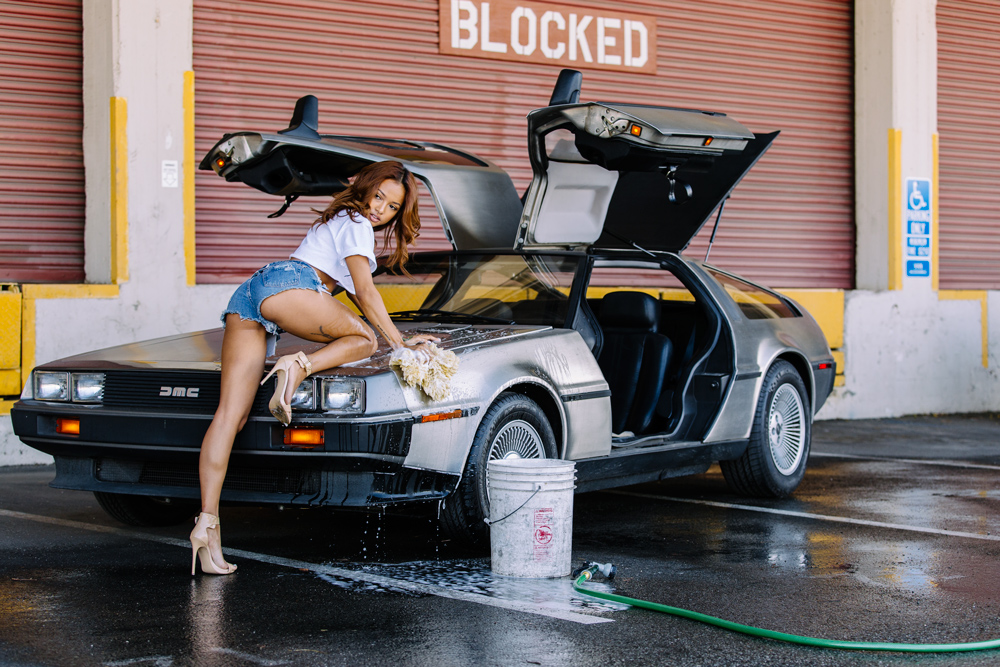 Karrueche Tran, Karrueche, Delorean, Model Car Wash, Car Wash