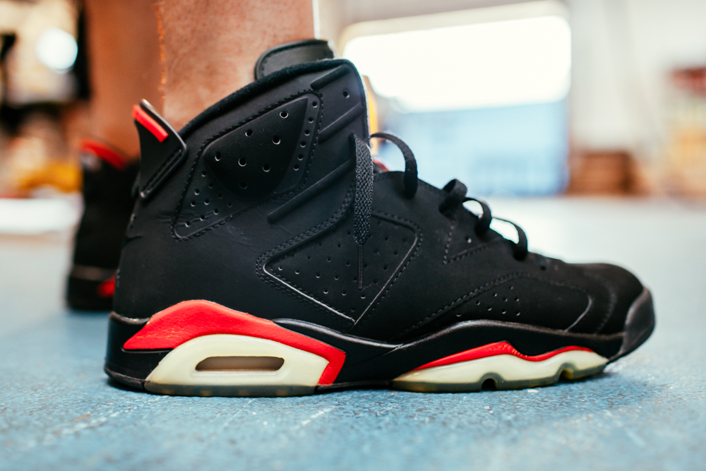 huge discount ffe68 c7d93 OLD SOLES :: JORDAN VI BLACK/ INFRARED :: FALL 2000 - The ...