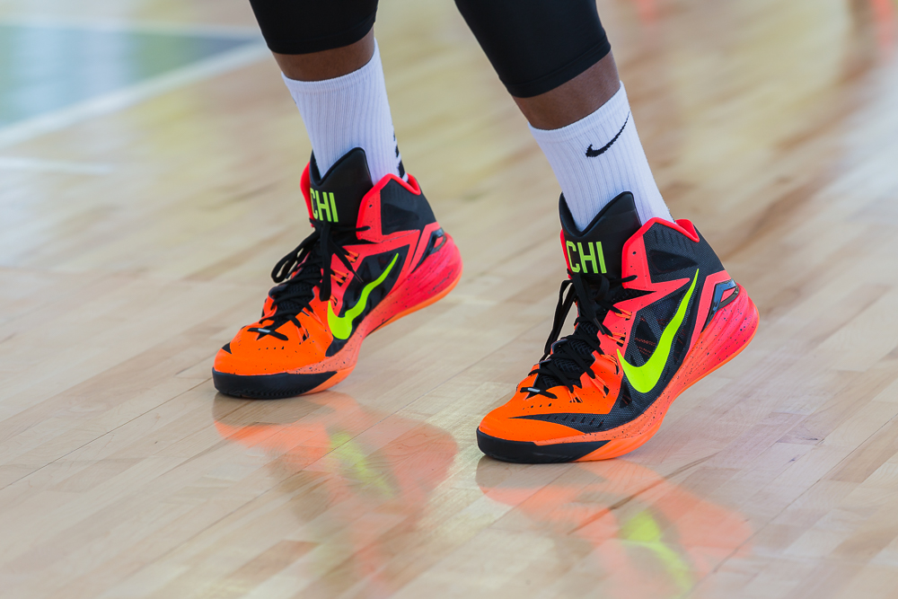 huge selection of be77b 316da The Finals saw Washington D.C. face the hometown Chicago team. To kick-off  the ... Nike Hyperdunk 2014 Chicago ...