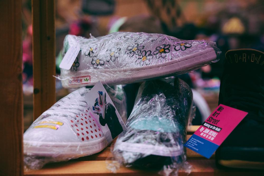 adidas x pharrell stan smith, hand-painted, adidas, adidas x pharrell