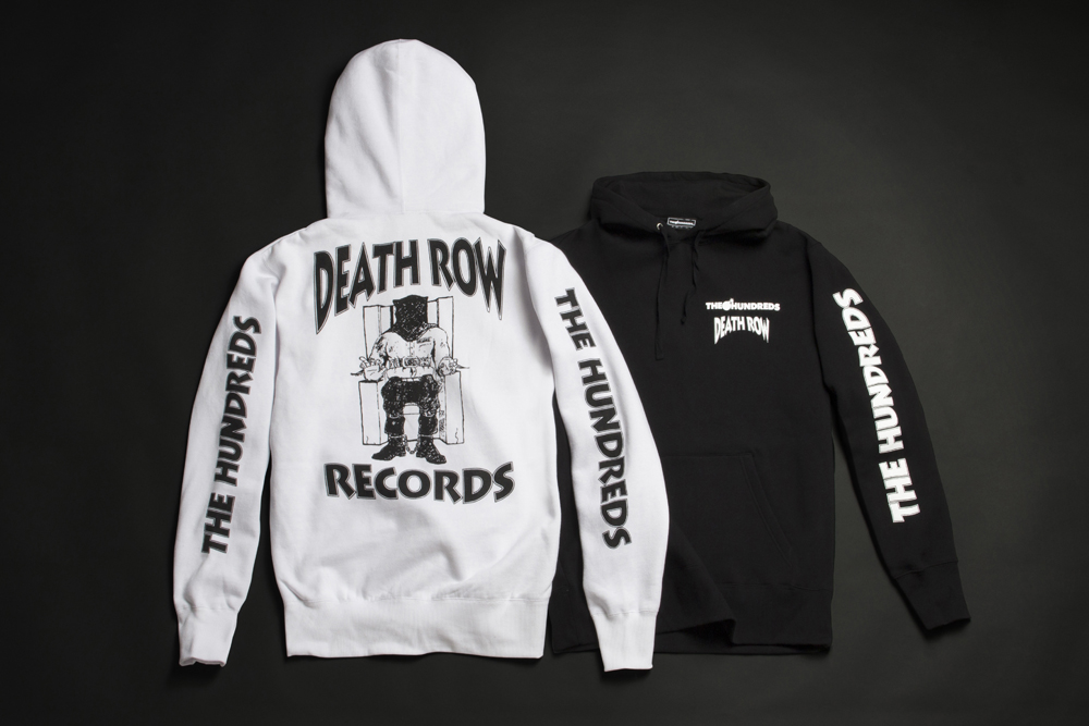 The Hundreds x Death Row, Death Row Collaboration, Death Rows Records, Death Row Records, Death Row Record Hoodies