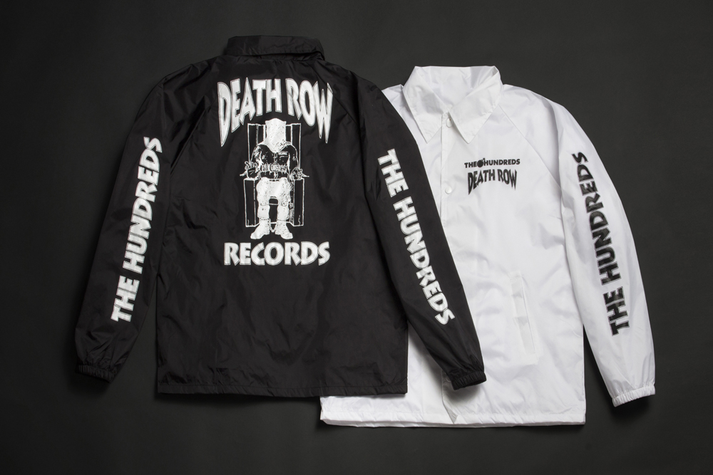 The Hundreds x Death Row, Death Row Collaboration, Death Rows Records, Death Row Records, Death Row Records Wind Breaker, Death Rows Records Coaches Jacket