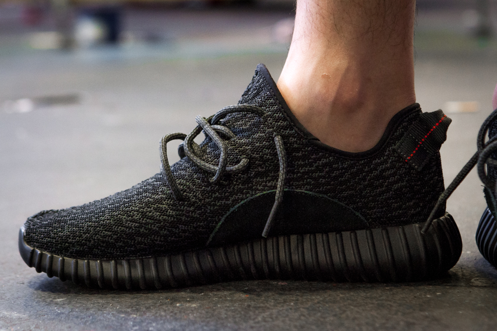 On Foot Photos Of The Black adidas Yeezy 350 Boost!