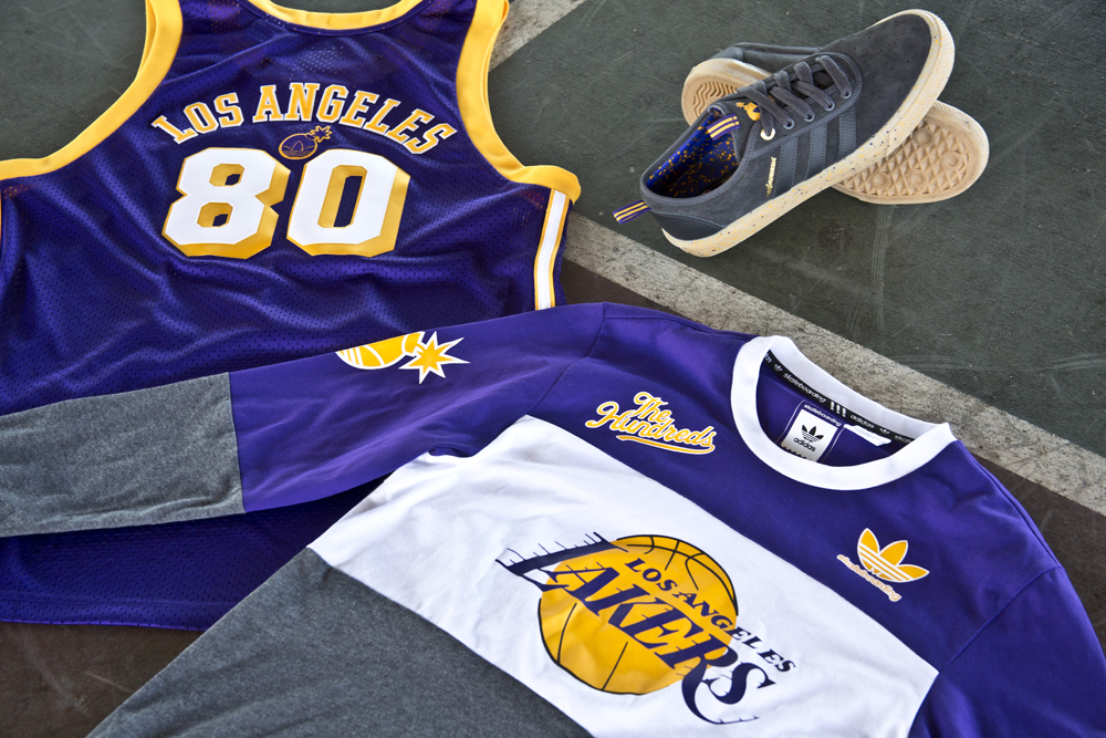 timeless design e3d9b 151b1 Available Now  The Hundreds in Collaboration with adidas and The NBA -  The Hundreds
