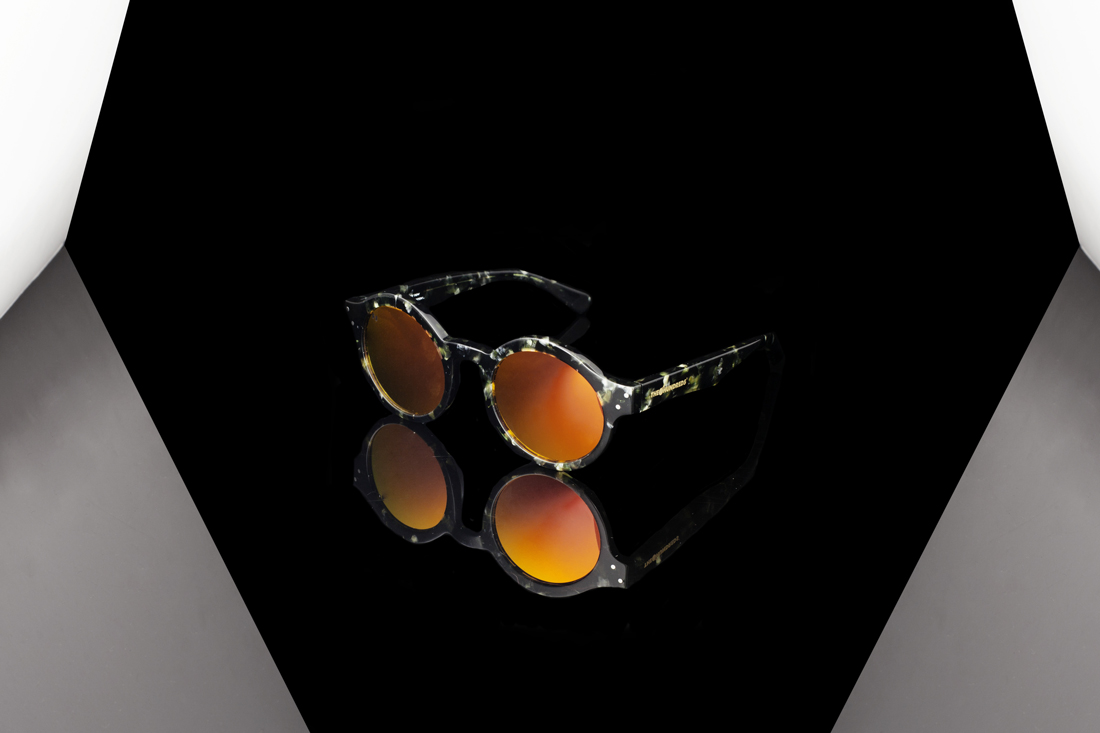 """483de3f3c538 We ve dressed our signature """"Tex"""" silhouette with a camo-inspired  tortoiseshell acetate frame"""