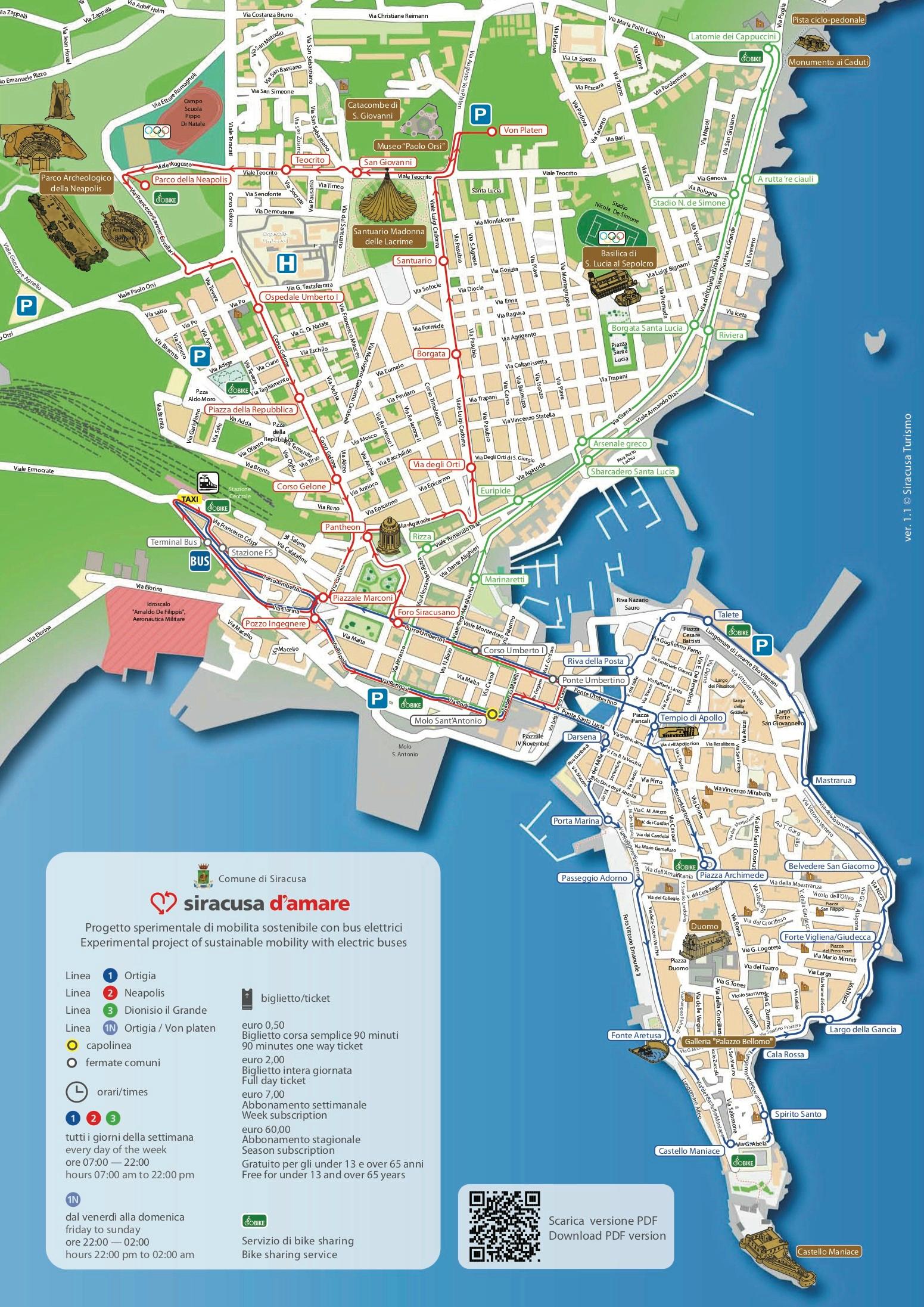 Mappa Siracusa D'Amare