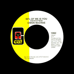"Gwen McCrae It's Worth The Hurt / 90% Of Me Is You Cat 7"" Vinyl"