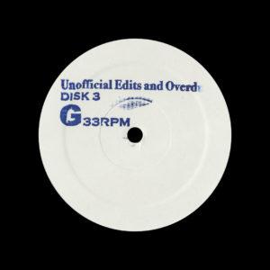 "Joe Claussell Unofficial Edits, Overdubs & Unreleased Remixes 3-2 Circuit T Promo 12"" Vinyl"