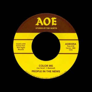 "People In The News Color Me / Misty Shade Of Pink Athens Of The North 7"", Reissue Vinyl"