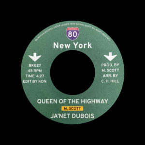 "Ja'Net Dubois, Jady Kurrent Band Standing There / Queen Of The Highway Backatcha Records 7"", Reissue Vinyl"