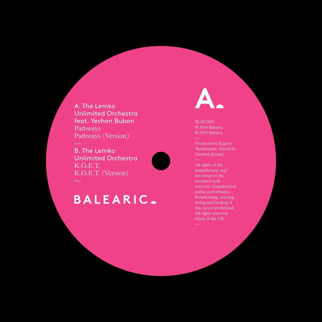 "Lemko Unlimited Orchestra Pathways Balearic 12"" Vinyl"