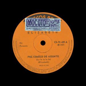 """Elizabeth Prá Comêço De Assunto RGE Discos 7"""" Vinyl"""