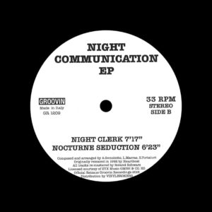 "Night Communication Night Communication Groovin Recordings 12"" Vinyl"
