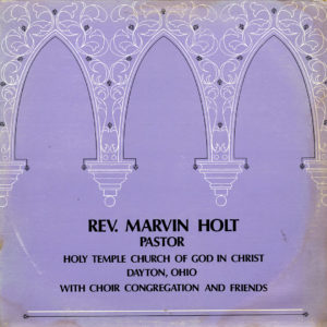 Rev. Marvin Holt Holy Temple Church Of God In Christ Randy's Spiritual Record Co. LP Vinyl