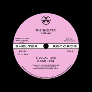 """Gate-Ah The Shelter Shelter Records 12"""", Reissue Vinyl"""