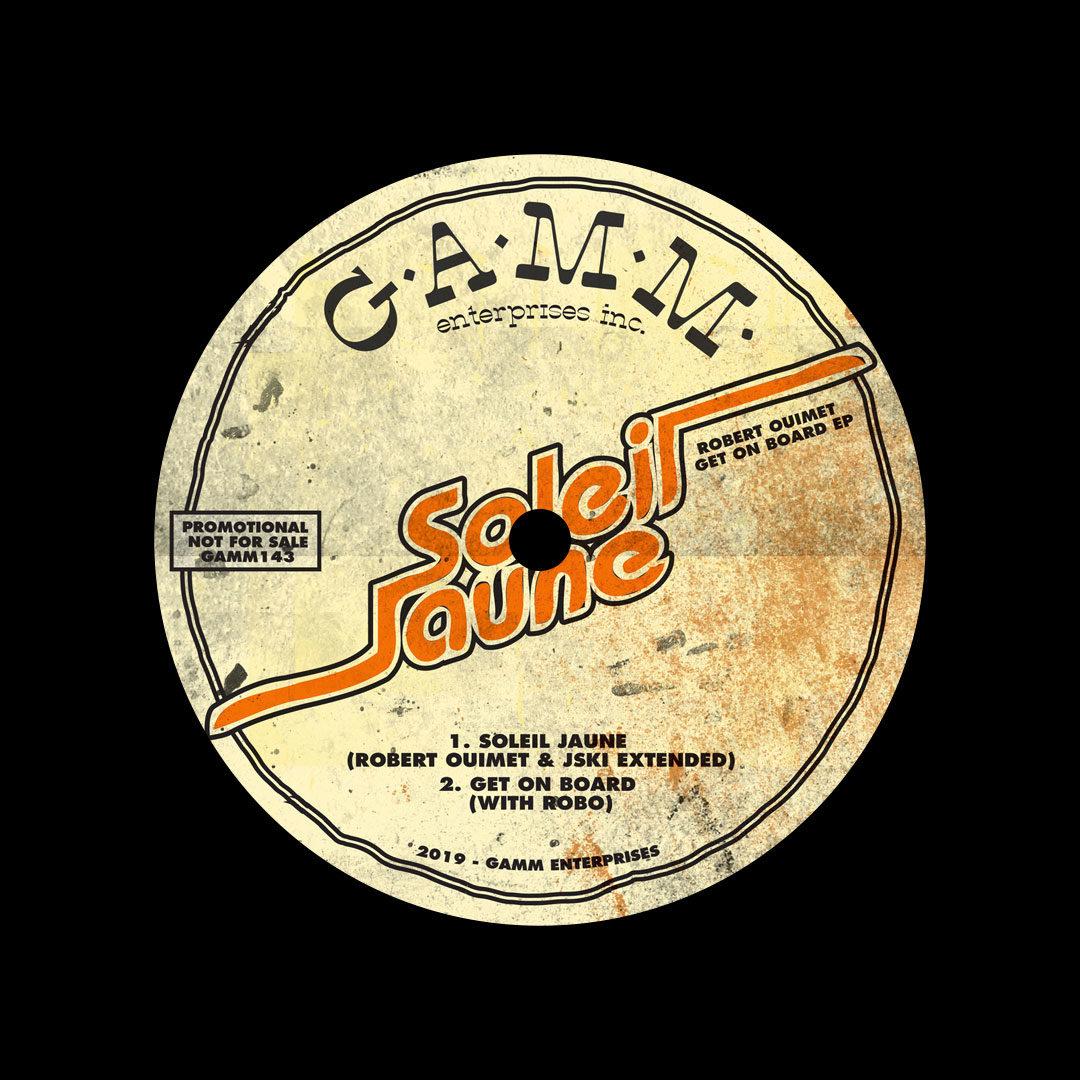 """Robert Ouimet Get On Board EP Gamm 12"""" Vinyl"""