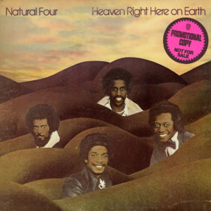 Natural Four Heaven Right Here On Earth Curtom LP, Promo Vinyl