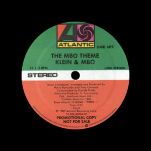 "Klein & MBO The MBO Theme Atlantic 12"", Promo Vinyl"