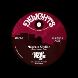 """Simfonyx Magenta Skyline / The Unresolved Delights 7"""" Vinyl"""