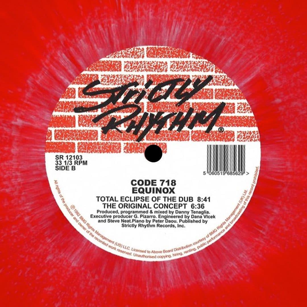 "Code 718 Equinox Strictly Rhythm 12"", Reissue, Splatter Vinyl"