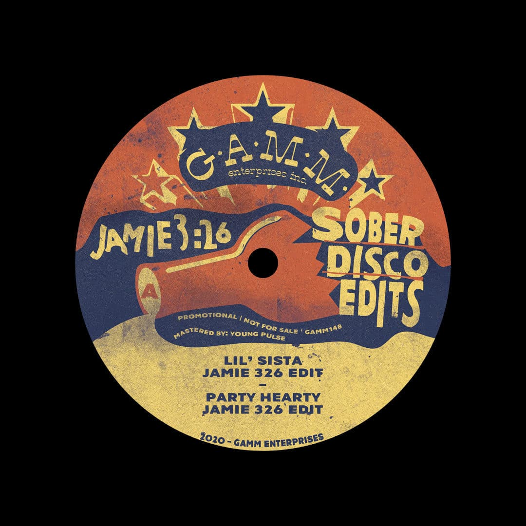 "Jamie 3:26 Sober Disco Edits Gamm 12"" Vinyl"
