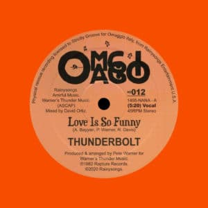 "Thunderbolt Love Is So Funny Omaggio 12"", Orange, Reissue Vinyl"