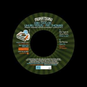 """Ebo Taylor, Pat Thomas, Uhuru Yenzu Original Ghanaian Highlife & Afrobeat, Vol. 2 Mukatsuku 7"""", Reissue Vinyl"""