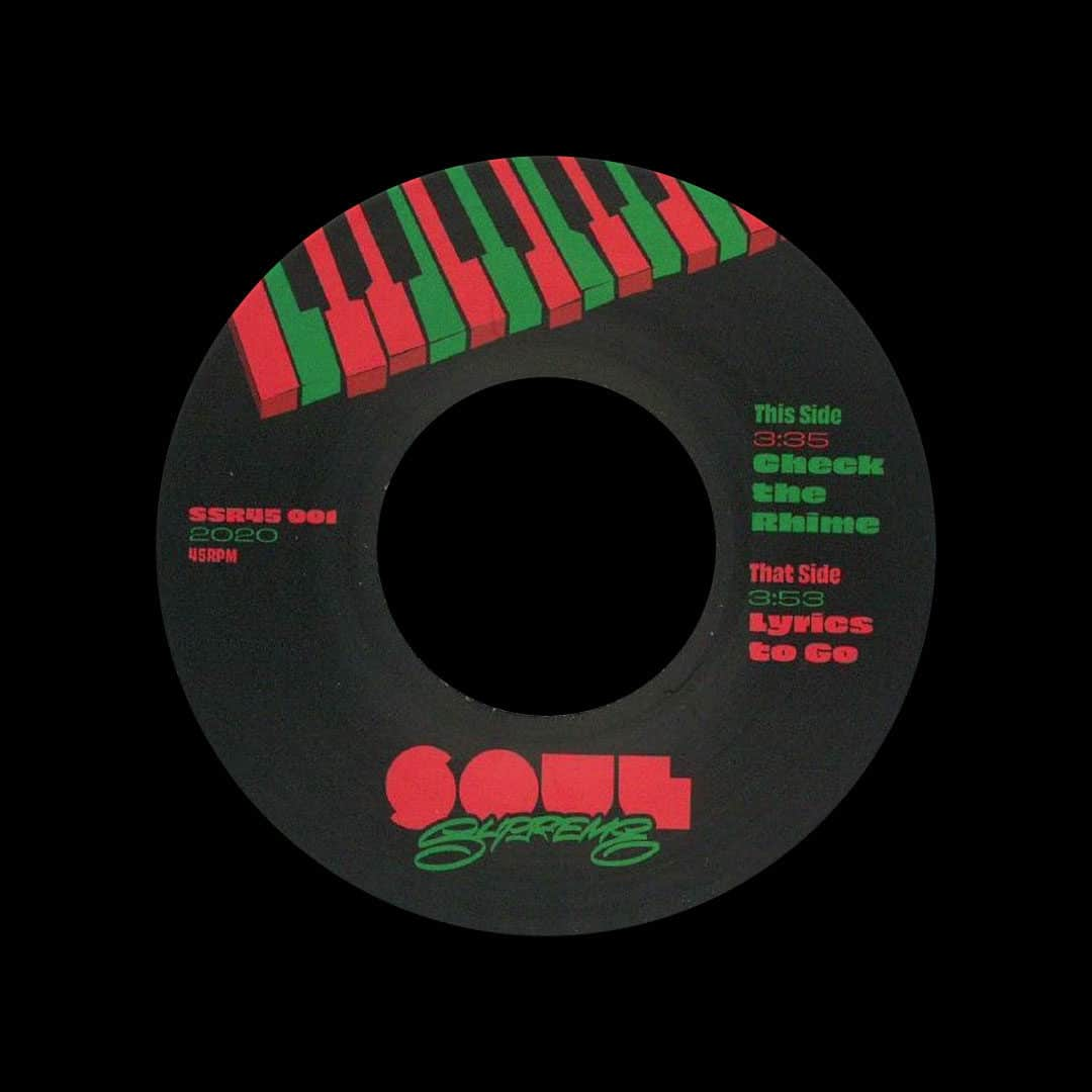 "Soul Supreme Check The Rhime / Lyrics To Go Soul Supreme Records 7"" Vinyl"