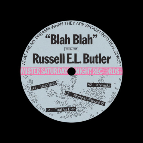 "Russell E.L. Butler Blah Blah Mister Saturday Night 12"" Vinyl"