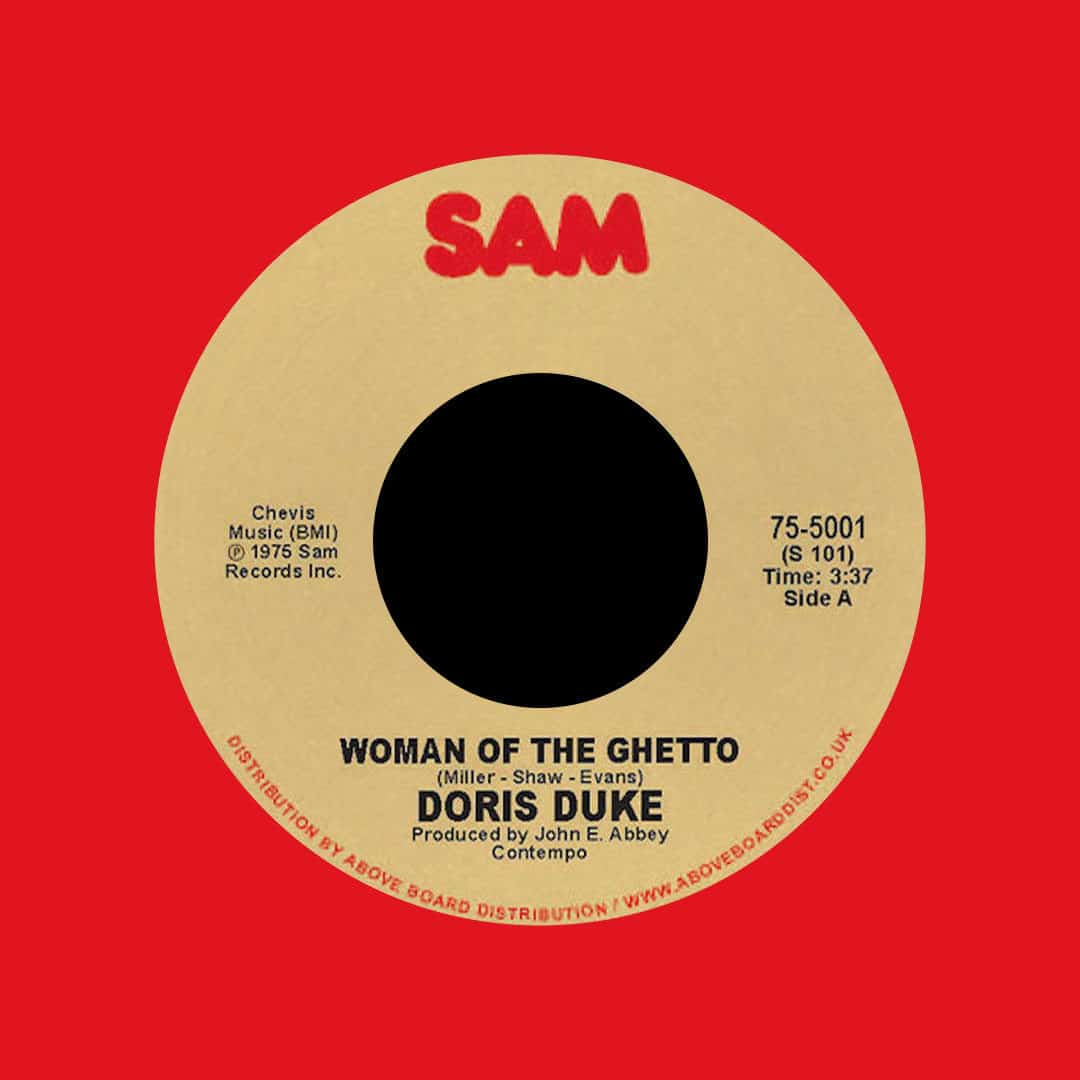 "Doris Duke Woman Of The Ghetto Sam Records 7"", Red, Reissue Vinyl"