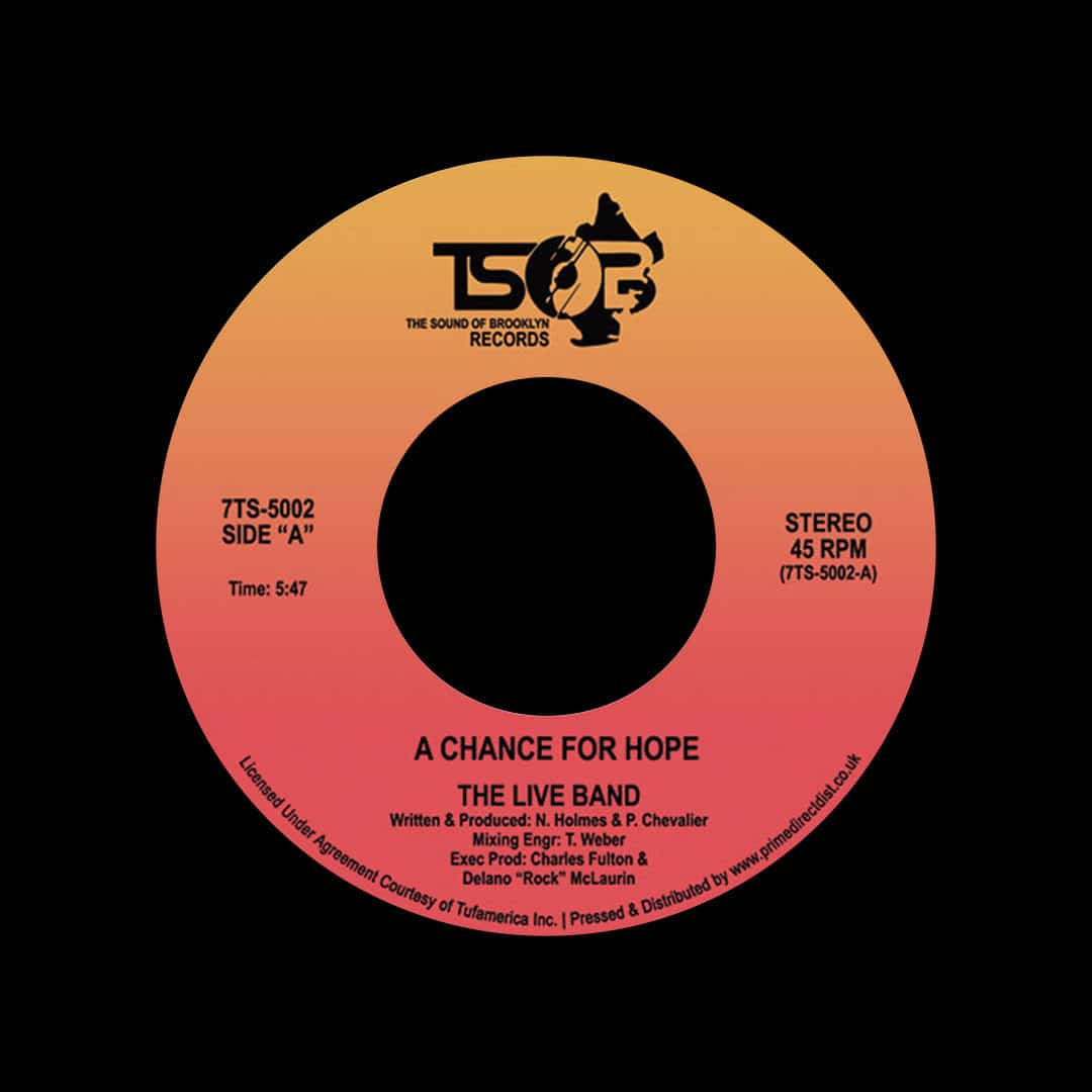 """The Live Band A Chance For Hope The Sound Of Brooklyn 7"""", Reissue, RSD2020 Vinyl"""