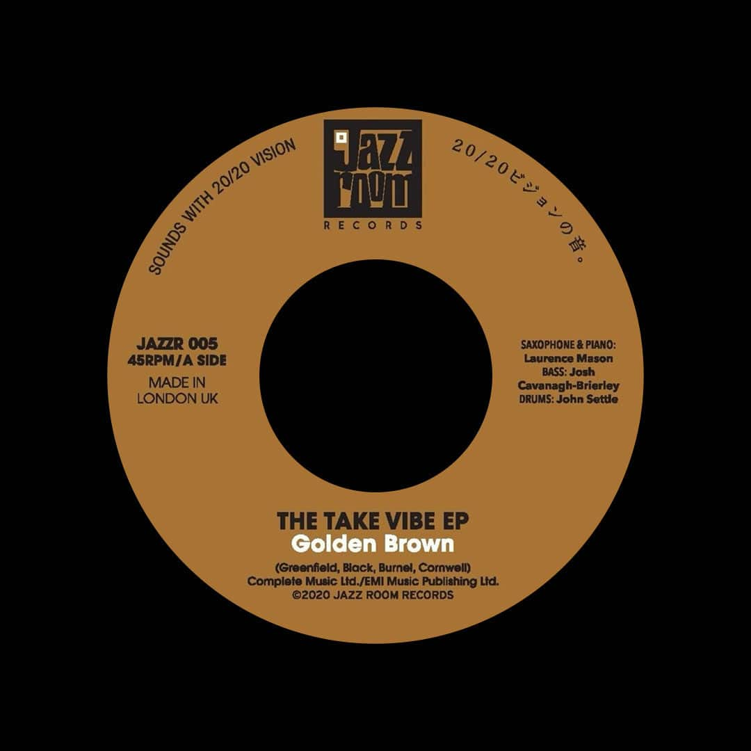 "Take Vibe EP Golden Brown / Walking On The Moon Jazz Room Records 7"" Vinyl"