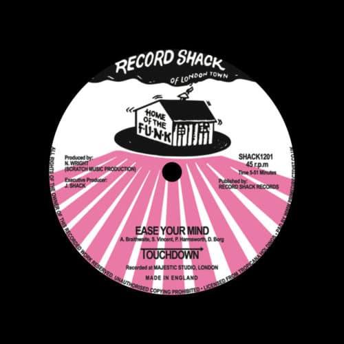 "Touchdown Ease Your Mind / Aquadance Record Shack 12"", Reissue, RSD2020 Vinyl"