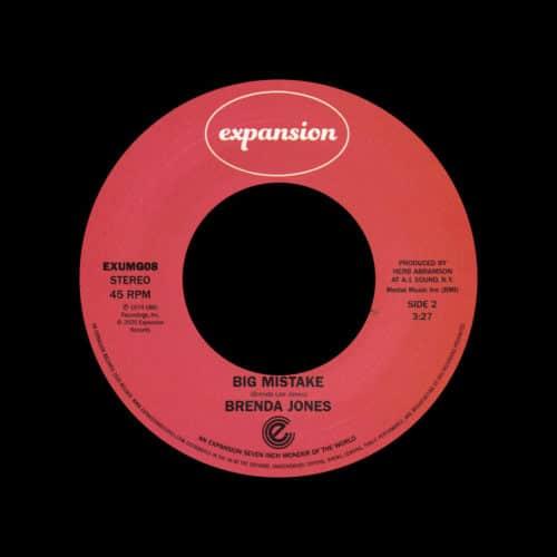 "Brenda Jones Super Stroke / Big Mistake Expansion 7"", Reissue Vinyl"