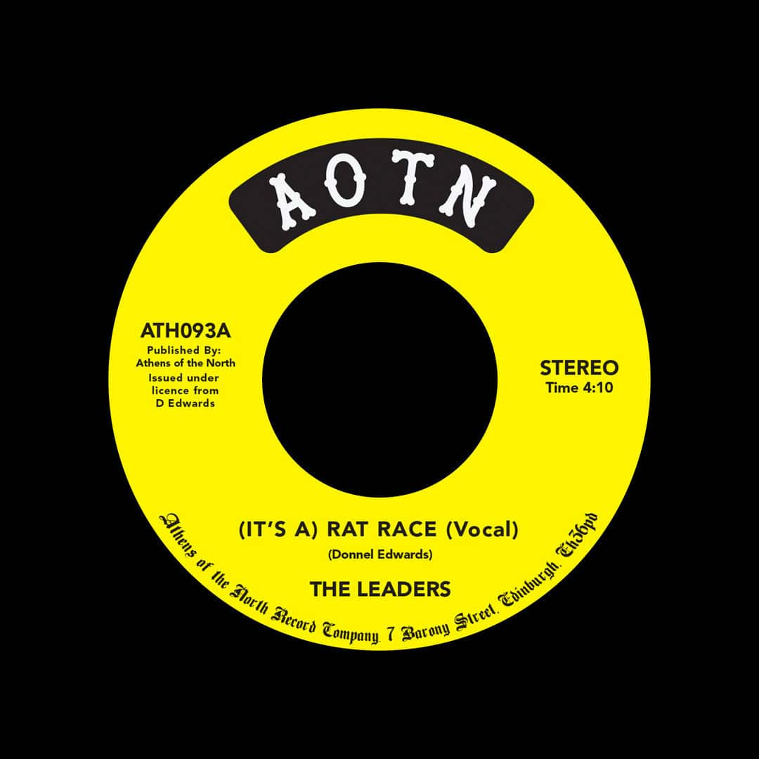 """The Leaders It's A Rat Race Athens Of The North 7"""", Reissue Vinyl"""