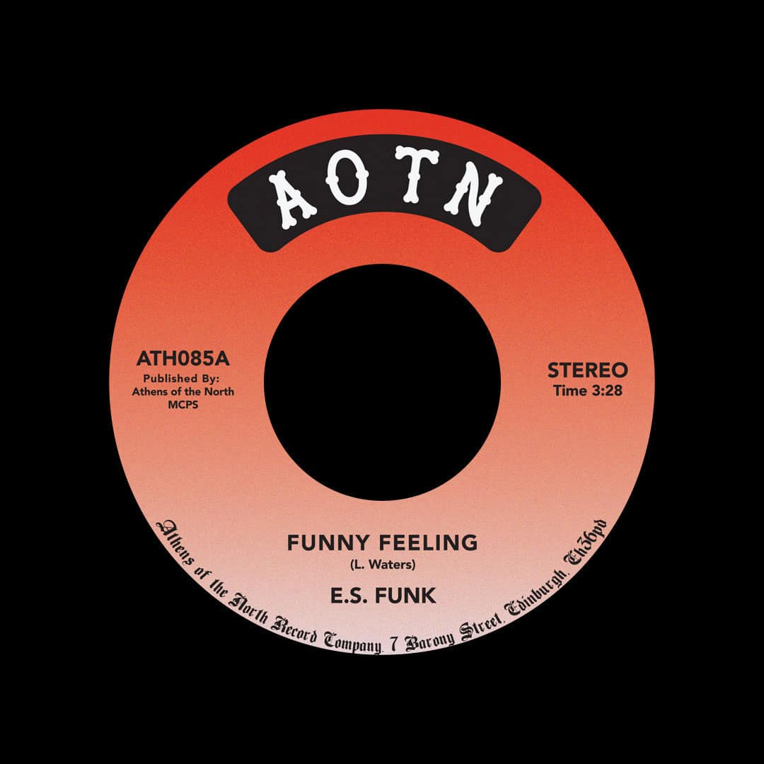 """E.S. Funk Funny Feeling / Shake Your Body Athens Of The North 7"""", Reissue Vinyl"""